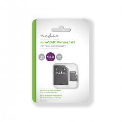 Memoria Micro SD Nedis 16Gb + adattatore